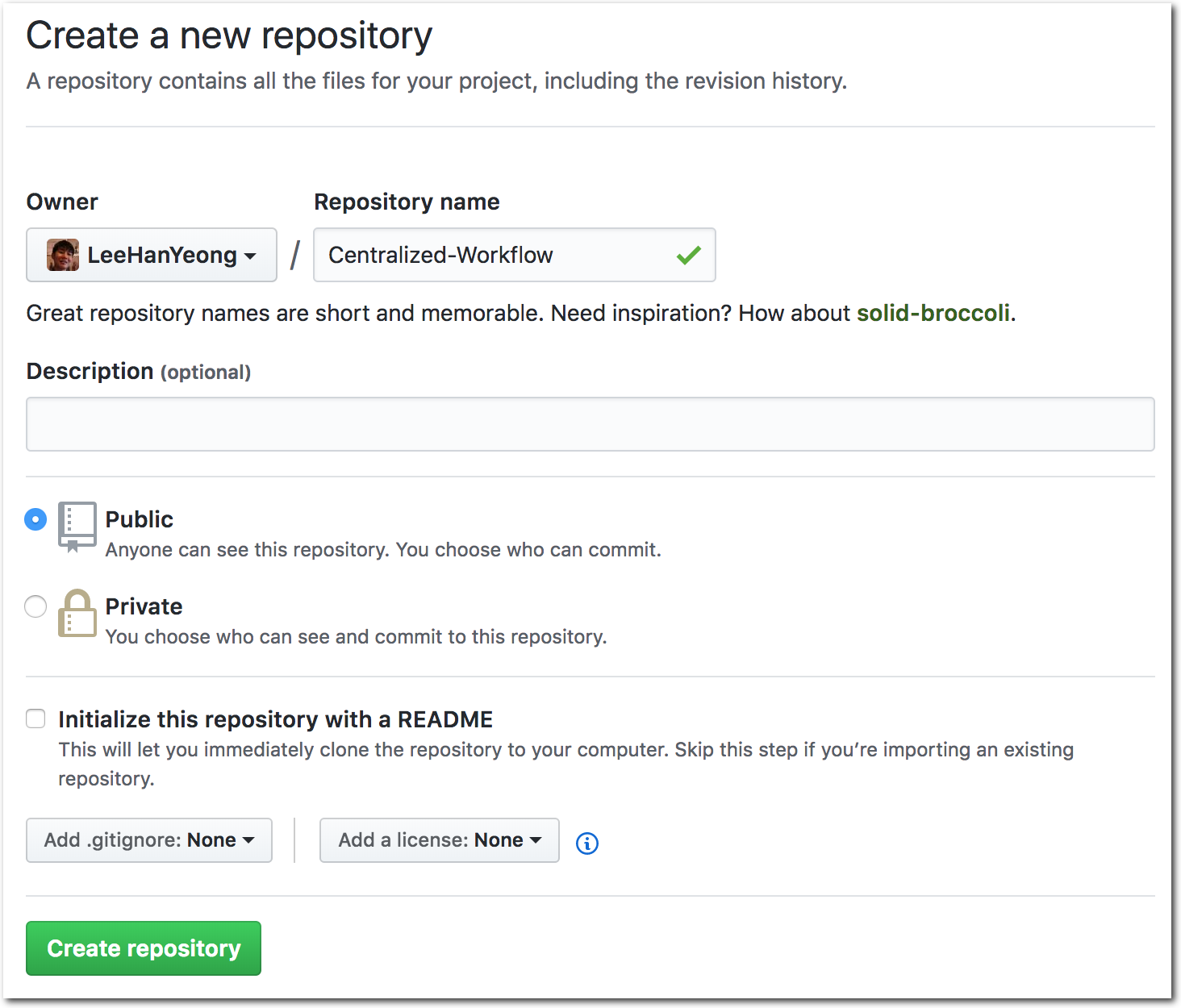 Centralized GitHub